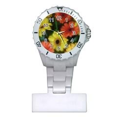 Orange Yellow Daisy Flowers Gerbera Nurses Watch by yoursparklingshop