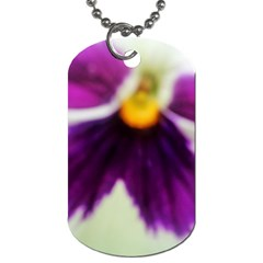 Inside Purple White Violet Flower Dog Tag (two Sided)  by yoursparklingshop