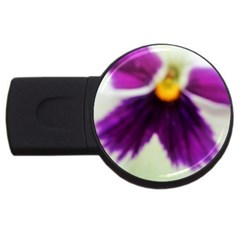 Inside Purple White Violet Flower 2gb Usb Flash Drive (round) by yoursparklingshop