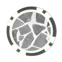 Grey White Tiles Pattern Poker Chip by yoursparklingshop