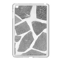 Grey White Tiles Pattern Apple Ipad Mini Case (white) by yoursparklingshop