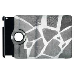 Grey White Tiles Pattern Apple Ipad 3/4 Flip 360 Case by yoursparklingshop