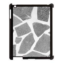 Grey White Tiles Pattern Apple Ipad 3/4 Case (black) by yoursparklingshop