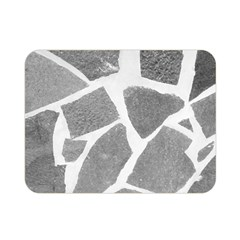 Grey White Tiles Pattern Double Sided Flano Blanket (mini) by yoursparklingshop