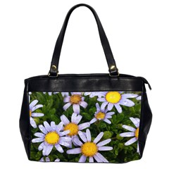 Yellow White Daisy Flowers Oversize Office Handbag (two Sides) by yoursparklingshop