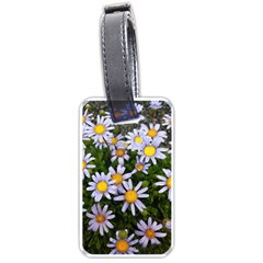 Yellow White Daisy Flowers Luggage Tag (one Side) by yoursparklingshop