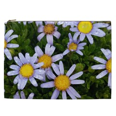 Yellow White Daisy Flowers Cosmetic Bag (xxl) by yoursparklingshop