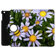Yellow White Daisy Flowers Apple Ipad Mini Flip 360 Case by yoursparklingshop