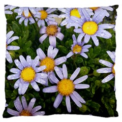Yellow White Daisy Flowers Standard Flano Cushion Case (two Sides) by yoursparklingshop