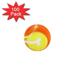 Orange Yellow Flame 5000 1  Mini Button Magnet (100 Pack) by yoursparklingshop