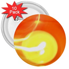 Orange Yellow Flame 5000 3  Button (10 Pack) by yoursparklingshop