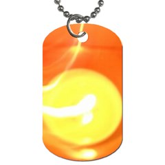 Orange Yellow Flame 5000 Dog Tag (two Sided)  by yoursparklingshop