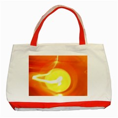 Orange Yellow Flame 5000 Classic Tote Bag (Red) by yoursparklingshop
