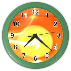 Orange Yellow Flame 5000 Wall Clock (color) by yoursparklingshop