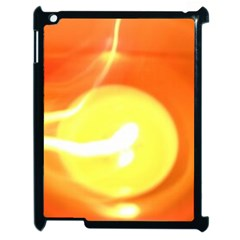 Orange Yellow Flame 5000 Apple Ipad 2 Case (black) by yoursparklingshop