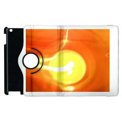 Orange Yellow Flame 5000 Apple Ipad 2 Flip 360 Case by yoursparklingshop