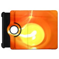 Orange Yellow Flame 5000 Kindle Fire Hd Flip 360 Case by yoursparklingshop