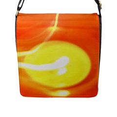 Orange Yellow Flame 5000 Flap Closure Messenger Bag (large) by yoursparklingshop