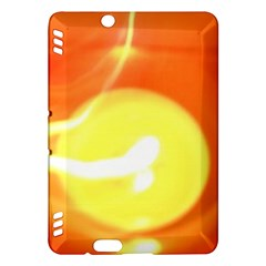 Orange Yellow Flame 5000 Kindle Fire Hdx Hardshell Case by yoursparklingshop
