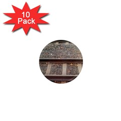 Railway Track Train 1  Mini Button Magnet (10 Pack) by yoursparklingshop