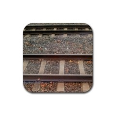 Railway Track Train Drink Coaster (square) by yoursparklingshop