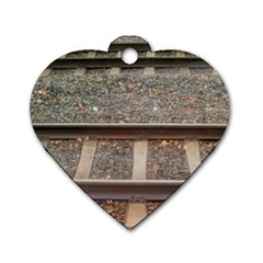 Railway Track Train Dog Tag Heart (two Sided) by yoursparklingshop