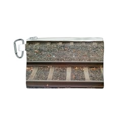 Railway Track Train Canvas Cosmetic Bag (small) by yoursparklingshop
