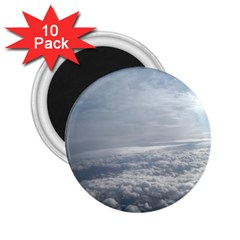 Sky Plane View 2.25  Button Magnet (10 pack) by yoursparklingshop