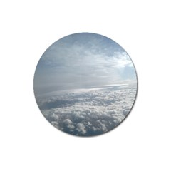 Sky Plane View Magnet 3  (Round) by yoursparklingshop
