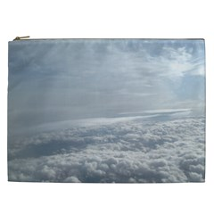 Sky Plane View Cosmetic Bag (xxl) by yoursparklingshop