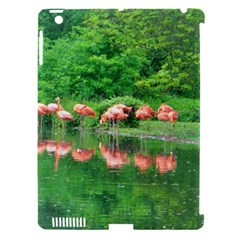 Flamingo Birds At Lake Apple Ipad 3/4 Hardshell Case (compatible With Smart Cover) by yoursparklingshop