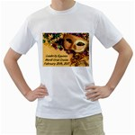 mardi gras t-shirt - Men s T-Shirt (White) (Two Sided)