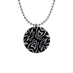 Geometric Tribal Print Button Necklace by dflcprintsclothing