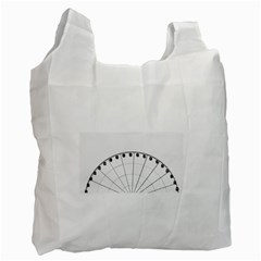 Untitled White Reusable Bag (one Side) by things9things