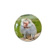 Grey Monkey Macaque Golf Ball Marker 4 Pack by yoursparklingshop