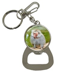 Grey Monkey Macaque Bottle Opener Key Chain by yoursparklingshop
