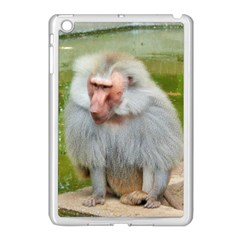 Grey Monkey Macaque Apple Ipad Mini Case (white) by yoursparklingshop