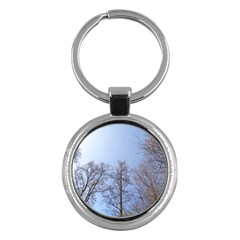 Large Trees In Sky Key Chain (round) by yoursparklingshop