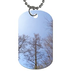 Large Trees In Sky Dog Tag (one Sided) by yoursparklingshop
