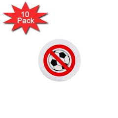 No Soccer Mini Buttons (10 Pack) by spelrite
