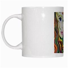 Inspirational Girl White Coffee Mug by sjart
