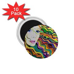 Inspirational Girl 1 75  Button Magnet (10 Pack) by sjart