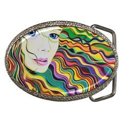 Inspirational Girl Belt Buckle (oval) by sjart