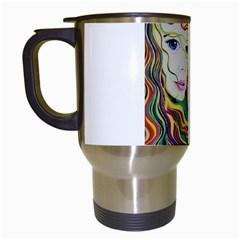 Inspirational Girl Travel Mug (white) by sjart