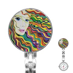 Inspirational Girl Stainless Steel Nurses Watch by sjart