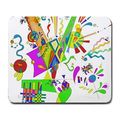 Splatter Life Large Mouse Pad (rectangle) by sjart