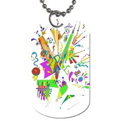 Splatter Life Dog Tag (two Sided)  by sjart
