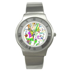 Splatter Life Stainless Steel Watch (slim) by sjart