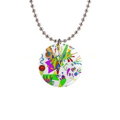 Splatter Life Button Necklace by sjart