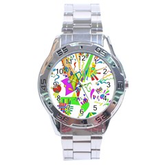 Splatter Life Stainless Steel Watch by sjart
